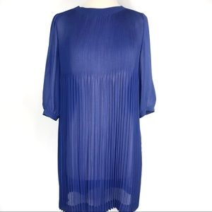 Ted Baker Purple Accordion Pleat Dress Size 2